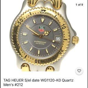 TAG HEUER WG1120-K0 Quartz 38mm Mid-size Watch